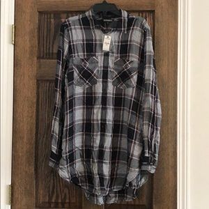 Express plaid boyfriend flannel shirt